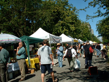 Farmers' market in Vancouver